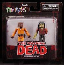 "2013 ""WALKING DEAD"" MINIMATES SERIES 3 DEXTER & DREADLOCK ZOMBIE FIGURES MOC"