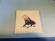 Thor Olly Moss Best Pals Avengers  5x5 Art Print - ON HAND