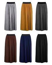 BNWT New Women's Straight Comfort Pleated Skirt UK Sizes 8-18 Elasticated Waist