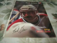 RICK GREEN  POSTER COLOR 8 BY 11   CANADIENS MTL BY BOB FISHER 1986-1987