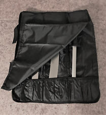 Chefs knife roll bag 6 pockets soft cushion liner 30 day Sale