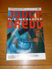 JUDGE DREDD THE MEGAZINE Comic - Series 1 - No 5 - Date 02/1991 - UK Comic