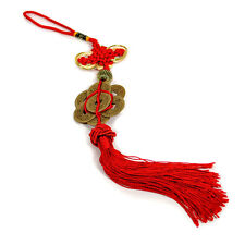 FENG SHUI 8 COIN TASSEL HIGH QUALITY Red Cure NEW Fortune Wealth Luck Prosperity