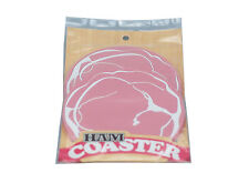 Ham Drinks Coaster place mat holder fun quirky cool kitsch - 9cm Silicone - 2pcs