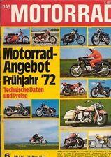 M7206 + Fahrbericht MV AGUSTA 750 S +  Motorrad-Angebot 1972 + MOTORRAD 6/1972