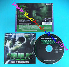 CD Danny Elfman Hulk(Original Motion Picture Soundtrack) 475 098-2 EU 2003(OST1)