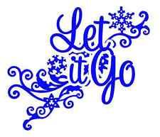 "Custom 4""x3.5"" Let It Go Vinyl Decal Sticker-Frozen Elsa Olaf Anna Car Window"