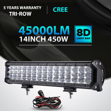 "TRI ROW 450W 14""INCH Cree Led Work Light Bar SPOT FLOOD Offroad 4X4WD SUV ATV 20"