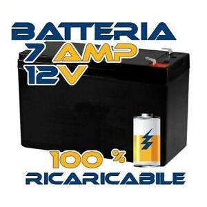 BATTERIA 12V Volt 7Ah ERMETICA RICARICABILE A PIOMBO UPS GRUPPI DI CONTINUITA