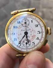Wladir oro gold plated 38 mm vintage chrono chronograph