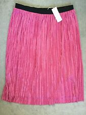 M&S PINK SPARKLY SKIRT -GATHERED WITH ELASTICATED WAISTBAND IN BLACK - 14 BNWT