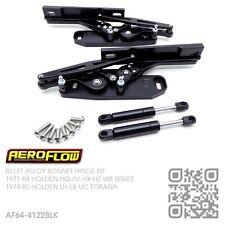 AF64-4122BLK BILLET BLACK ALLOY BONNET HINGES [HOLDEN HQ-HJ-HX-HZ-WB]MONARO/GTS
