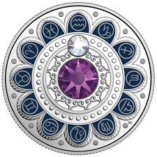 3 Kanada Dollar Aquarius Zodiac Series Swarovski® 2017 PP im Etui mit Zertifikat