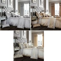 Luxury Diamante Duvet Quilt Cover Bedding Bed Linen Set Or Curtains Set Oxy New