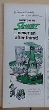 1955 magazine ad for Squirt - bottle on lily pad, Never an after thirst
