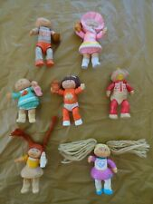 Vintage Cabbage Patch Kids Doll Mini Poseable Pvc Figures Lot of 7 (1984)