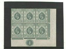 HONG KONG CHINA - 1914 - KG V -  SG104a - PLATE CONTROL BLOCK - MINT NOT HINGED
