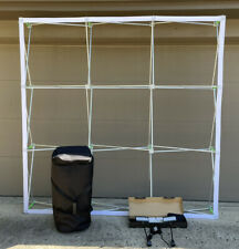 75 Pop Up Display Wall Frame 88x 88x12 End Caps 2 Lights Amp Carrying Case