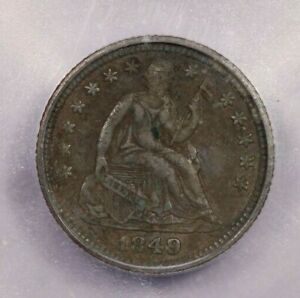 1849-P 1849 Liberty Seated Half Dime H10C ICG EF40 Details crusty and original!