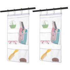 2 Pack Hanging Mesh Shower Caddy Organizer Shower Curtain Rod/Liner Bath Toy