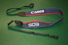 Tragegurt Canon (EOS) für analoge Kameras von Canon (blau, mit rotem Rand)