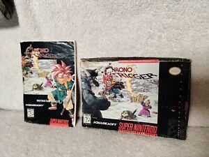 Authentic Chrono Trigger Box and Manual. Super Nintendo SNES original!!!
