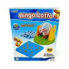 Bingo Lotto Cage Traditional Kids Family Game Set 48 Multicolor Fun Cards Kid 3+