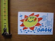 Autocollant Sticker OASIS sans bulles prepare par VOLVIC