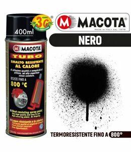 MACOTA TUBO vernice ALTA TEMPERATURA nero spray 3G 400 ml auto moto