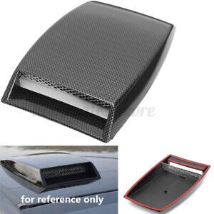 Universal Carbon Car Decorative Air Flow Intake Hood Scoop Vent Bonnet Cover