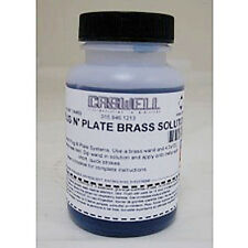 4 oz Plug N Plate Brass Metal Plating Solution (Refill)