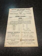 Tooting & Mitcham FC v Ilford FC Programme 1959