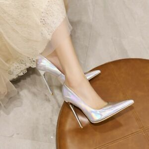 Womens Slingback Stiletto High Heels Sexy Pointed Toe Pumps Sandals Shoes Party