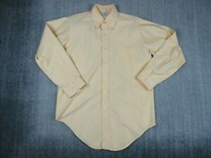 Brooks Brothers Makers Yellow Button Down Shirt Long Sleeve Size 16-3