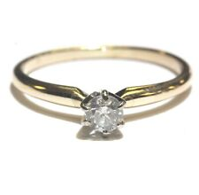 diamond solitaire engagement ring 2g vintage 14k yellow gold .23ct Si2 J round