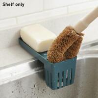Kitchen Sink Faucet Sponge Soap Storage Organizer Cloth Rack Drain Shelfs U3I2