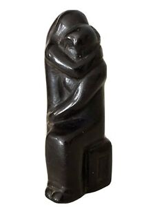 """1920S Modernist  Abraham Walkowitz Hand Carved Sculpture Of """"The Embrace"""""""