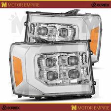 For 07-13 GMC Sierra 1500 2500 3500 HD Chrome Nova Series Projector Headlights