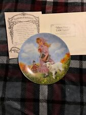 """Mary Had a Little Lamb"" Collector's Plate - John McClelland - Reco - 1985 - Coa"