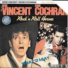 """45 TOURS / 7"""" SINGLE--GENE VINCENT / EDDIE COCHRAN--BE BOP A LULA / WHAT'D I SAY"""