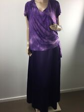 LAURA K PURPLE EMBELLISHED GLITTER EVENING MAXI DRESS PLUS SIZE 20 (L71000)