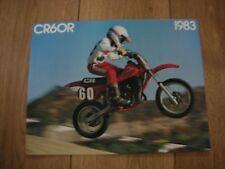 NOS HONDA CR 60 RD 1983 4 PAGE SALES BROCHURE BOOKLET VINTAGE CR60R GF5 EVO