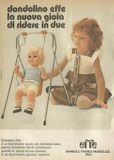 X4663 Dondolino Effe - Bambole Franca Monselice - Pubblicità 1975 - Advertising
