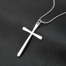 2015 Fashion  925 Sterling Silver Charms Cross Pendant Beautiful Women Necklace