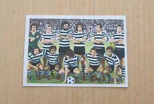 FOOTBALL 75 / 76  LISBONNE SPORTING  EQUIPE VIGNETTE NEUVE