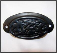Pottery Barn Vintage Bin Pull BRONZE Black drawer handles Set of 6