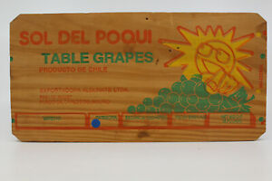 Wooden Fruit Produce Crate END Sol Del Poqui Table Grapes for Display