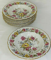 "8 Royal Jackson China LORD MAYFAIR 8"" FLAT RIM SOUP BOWLS"