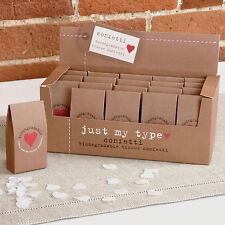 Just My Type Brown Wedding Confetti - Biodegradable Tissue Paper 20 Cartons