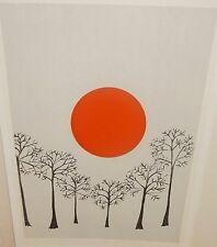 """cecilia didier """"wintersonne"""" limited edition handsigniert farbserigraphie"""